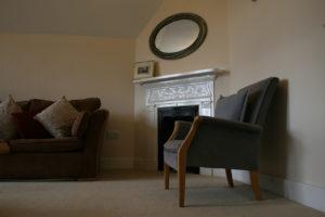 Fellows' Flat fireplace