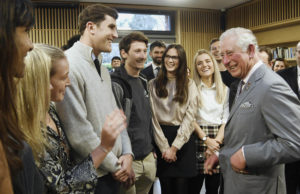 HRH The Prince of Wales meets Kellogg students
