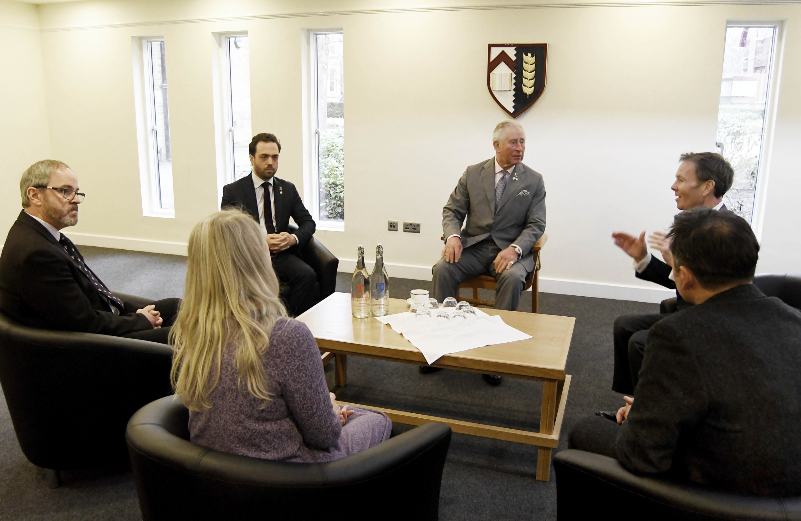 HRH The Prince of Wales meets with President Prof Michie
